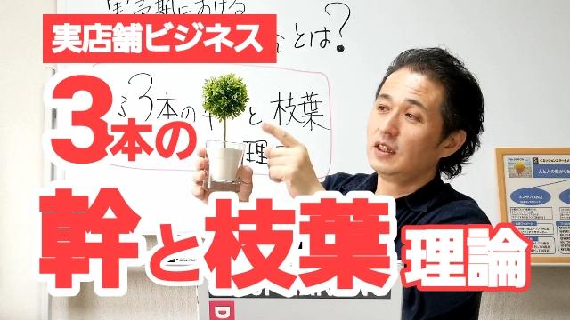 【お店の売上アップ実売期対策③】3本の幹と枝葉理論で商品戦略を組め!